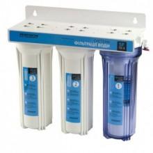 Система фильтрации воды трехступенчатая с краном Насосы+ Плюс Оборудование SF 10-3