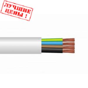 Силовой токоподводящий медный кабель провод четырехжильный ПВС 4x2.5 мм² в изоляции для работы в сетях 220/380/660В