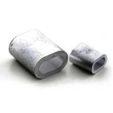 Зажим для троса (каната) d1 мм алюминиевый DIN 3093 (клепаный)