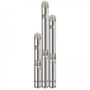 Погружной глубинный центробежный насос Насосы плюс оборудование 100 SWS 6-32-0.75 + муфта для скважин диаметром 110 мм