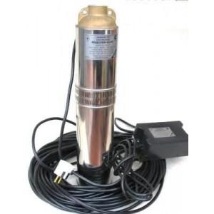 Скважинный насос Водолей БЦПЭ 1.2-80У диаметром 104 мм кабель в комплекте